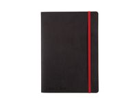 Ant.bok OXFORD Black n'Red A5 soft linj.