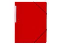 Gummibandsmapp A4 röd